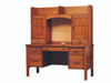 Rivertown wall desk with hutch