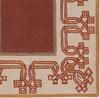 Detail of Chinese Lantern Burgundy Rug