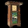 Craftsman Vertical Clock with 4x8 Landscape Tile