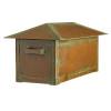 Craftsman Roof Solid Brass Post Mount Mailbox AF-520