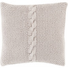 Light Gray Knitted Pillow