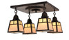 A-line Shade 4 Light Ceiling Mount