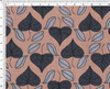 Art Nouveau Floral Window- Fabric by the Yard – Stylized Leaves – Vineyard