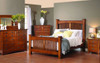 Craftsman Arched Spindle Bed Spindle Bed with Inlay