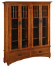 """Mission Display 72""""h Bookcase with 4 Doors and 2 Drawers HDMB16D-HB"""