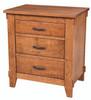 Hampton 3 Drawer Nightstand 1031