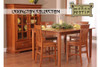 Lexington Dining Room Counter High Table and Four Counter High Chair Set