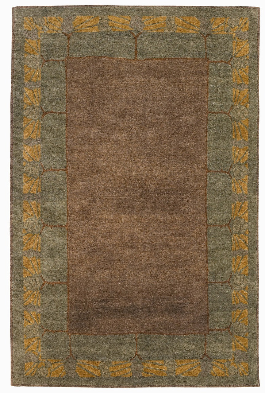 Craftsman Pine Cone Gingersnap Rug The Mission Motif