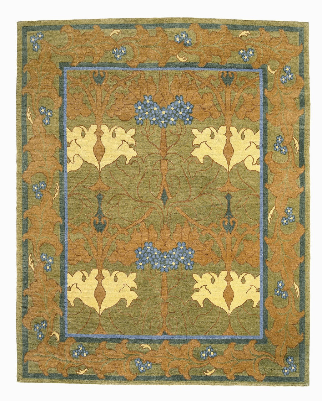 Craftsman Donegal Fintona Forest Earth Rug - The Mission Motif