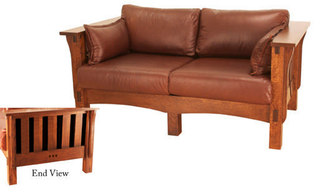 Marvelous San Marino Slat Loveseat Smw 1103 Machost Co Dining Chair Design Ideas Machostcouk