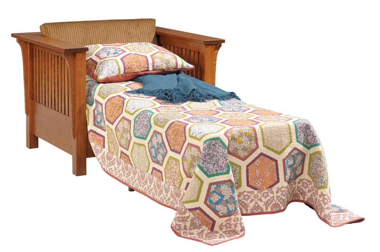 Awe Inspiring Mission Fabric Chair Bed 18 Qf 00 Inzonedesignstudio Interior Chair Design Inzonedesignstudiocom