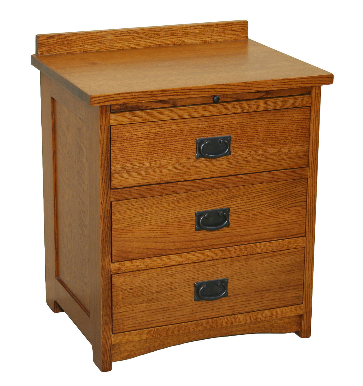 American Mission 3 Drawer Bedside Table W Pullout Shelf
