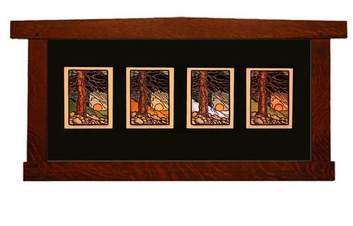 Woodlands Print Framed