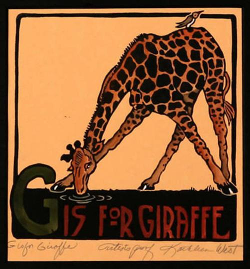G is for Giraffe Print