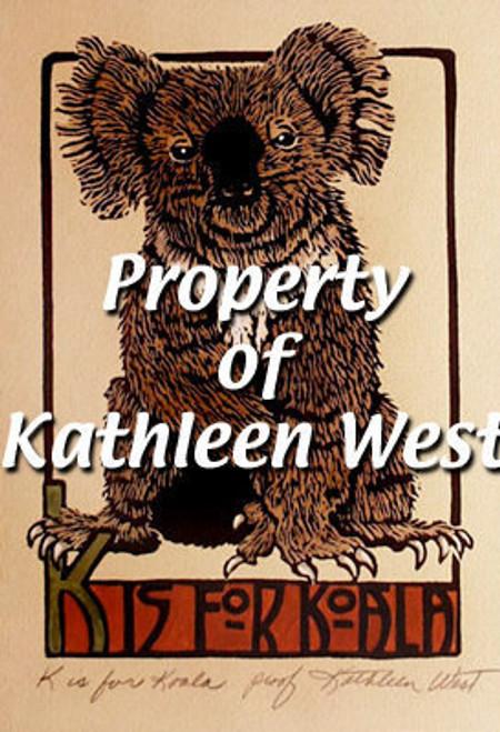 K is for Koala Print