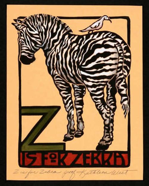 Z is for Zebra Print