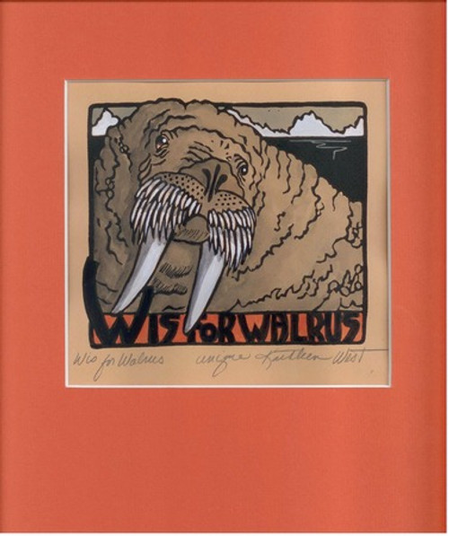 W is for Walrus Unique Print