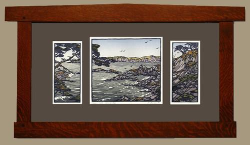 Framed Carmel Coast- Morning