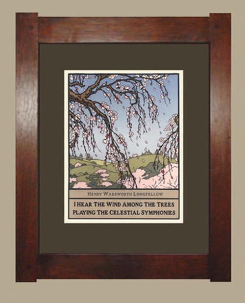 "Framed Cherry Blossoms from ""Wisdom of Trees"" Series"