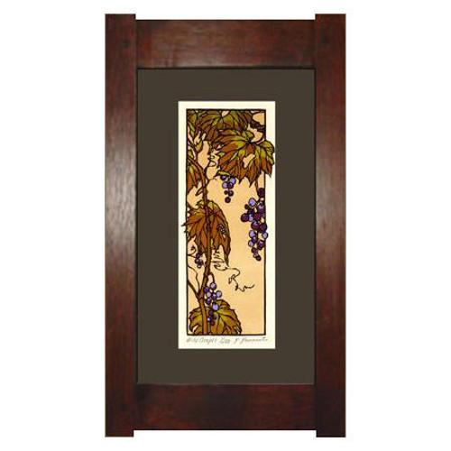 Framed Wild Grapes Print
