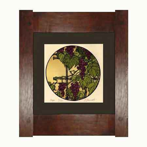 Framed Grape Print