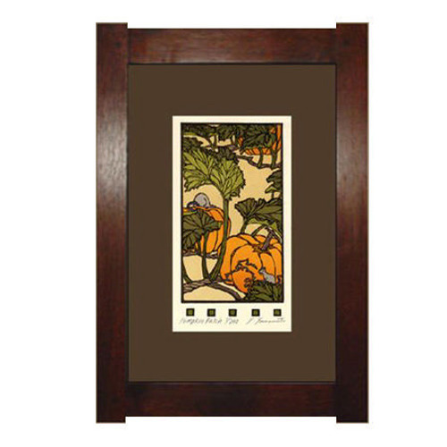 Framed Pumpkin Patch Block Print