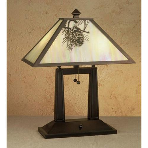 Oblong Pine Cone Desk Lamp 28643-M