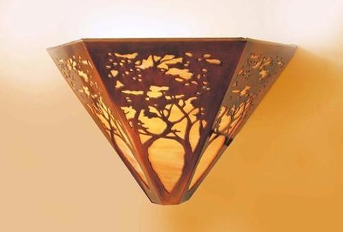 Triangular Sconce - Tree Design
