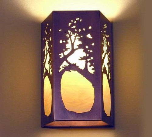 Rectangular Sconce - Tree Design