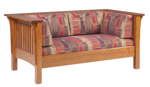 Mission Slat Love Seat 18-QF-00