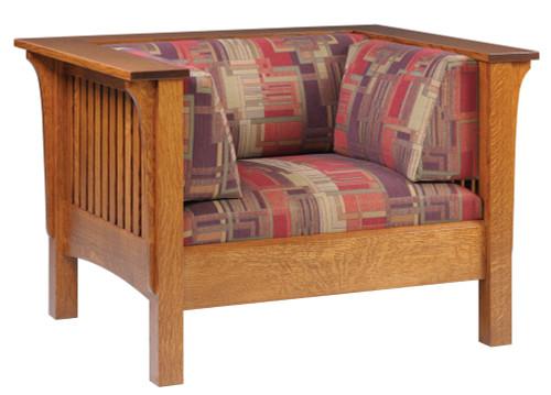 Mission Slat Low Fabric Sofa Chair 18-QF-00