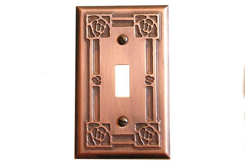 Bungalow Rose Single Toggle Copper Switchplate