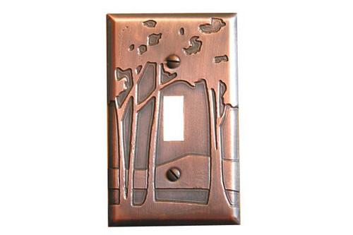 Landscape Single Toggle Copper Switchplate