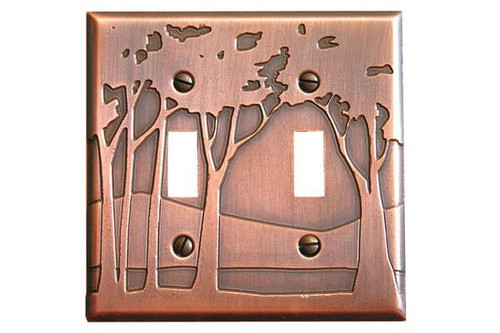 Landscape Double Toggle Copper Switchplate