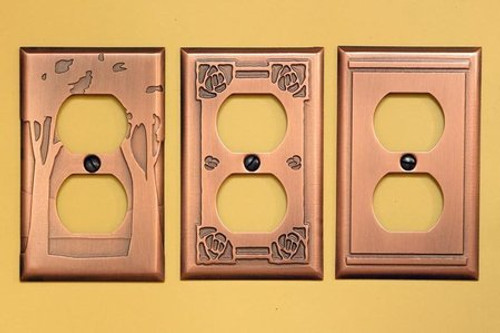 Duplex Copper Outlet Covers