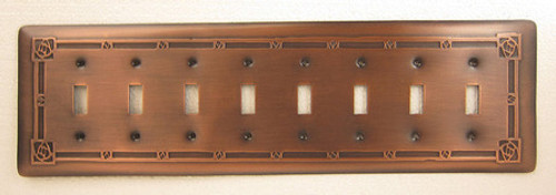 Custom Copper Switch Plate Covers