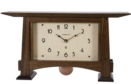 Craftsman Horizon Pendulum Clock Solid Walnut CHP-WAL