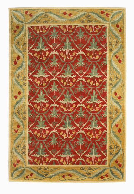 Craftsman Lily Field Ruby Rug