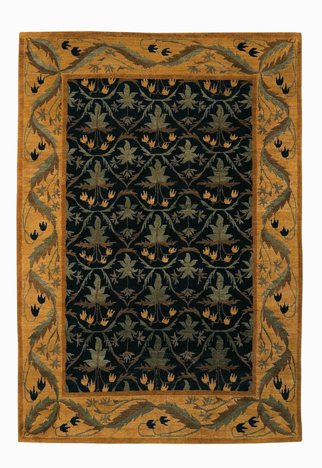 Craftsman Lily Field Black Rug