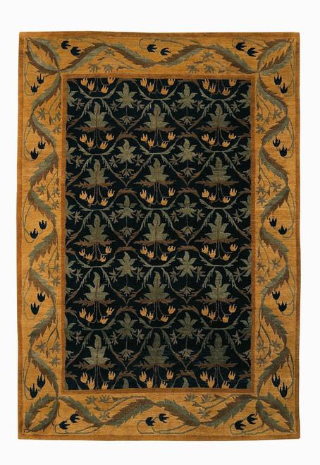 Craftsman Lily Field Black Rug