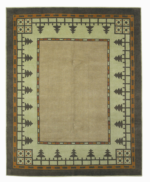 Craftsman Pine Forest Meadow Rug