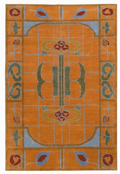 Craftsman Celtic Rose Cantaloupe Rug