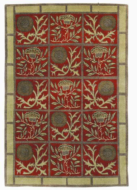 Craftsman Thistle Claret Rug