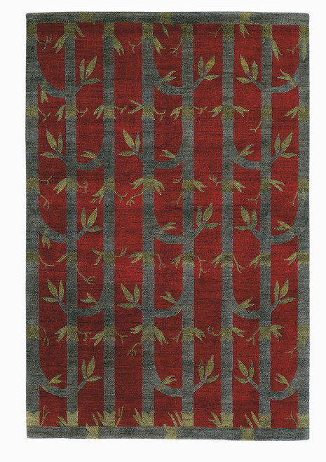 Craftsman Bamboo Red Rug