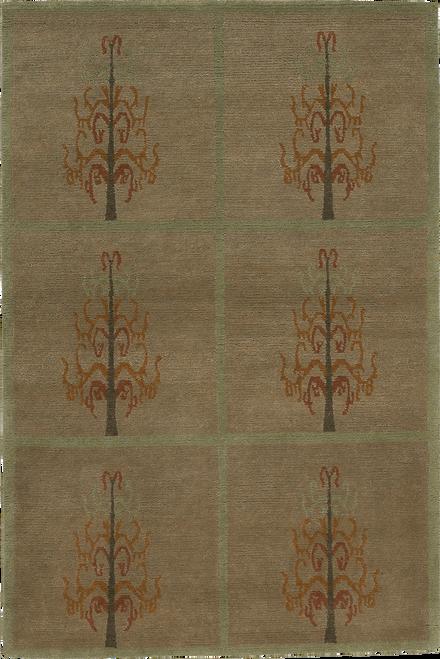 Craftsman Tree of Life Fern Rug