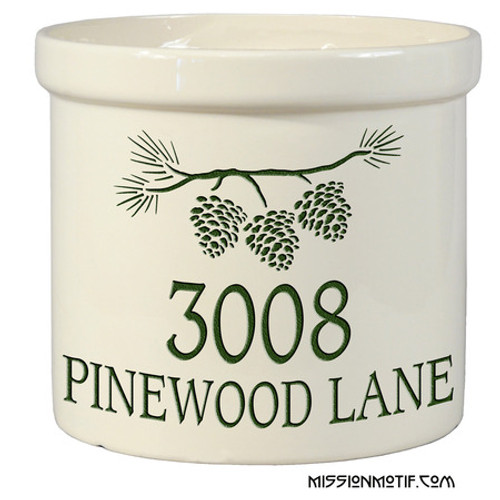 Pine Bough Crock 2551