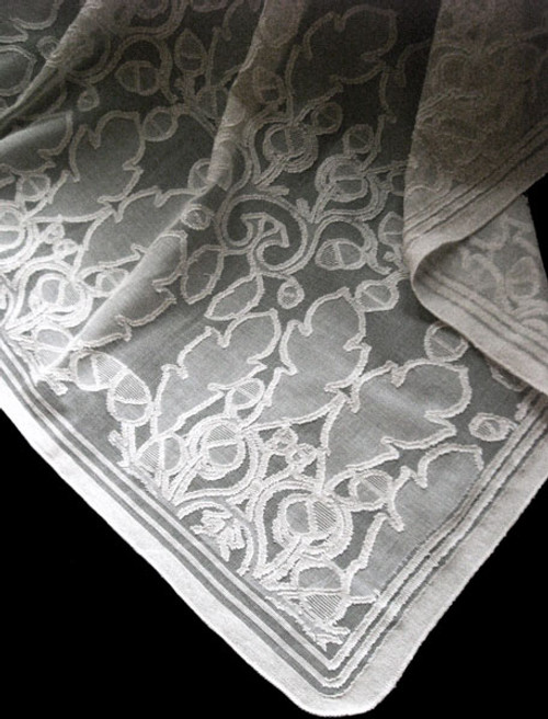 Oak and Acorn Lace Curtain
