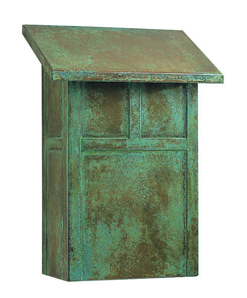 Mission Mailbox in Verdigris Finish