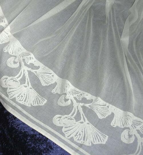 Ginkgo Leaf Lace Curtain Panel