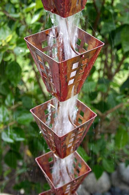 Arts and Crafts Copper Rain Chain
